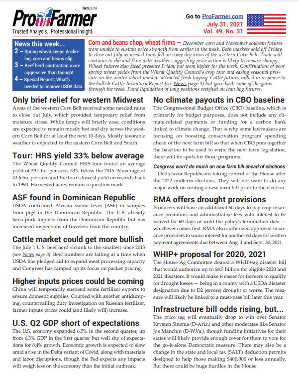 Pro Farmer newsletter - July 31, 2021