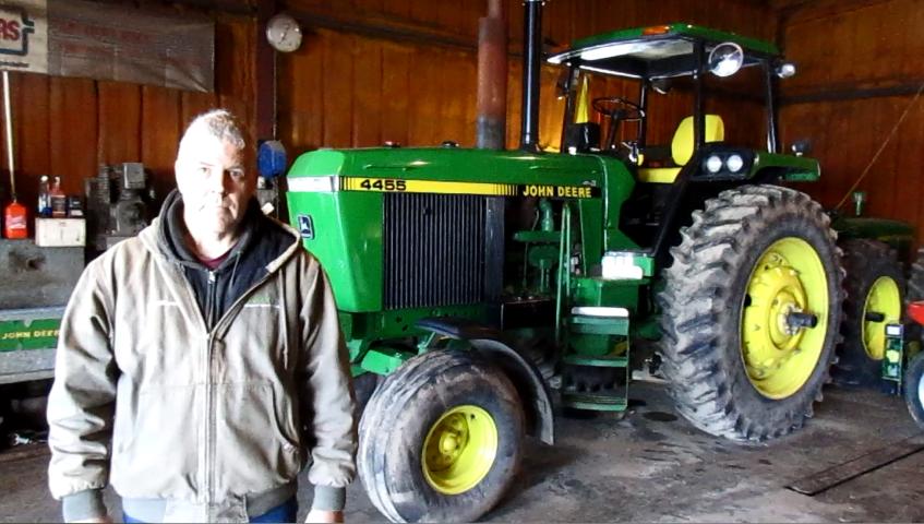 Rare John Deere 4455 Open Station Power Shift Tractor