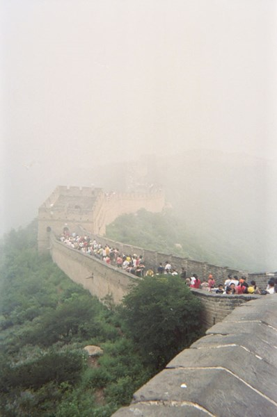 great wall of china smog l