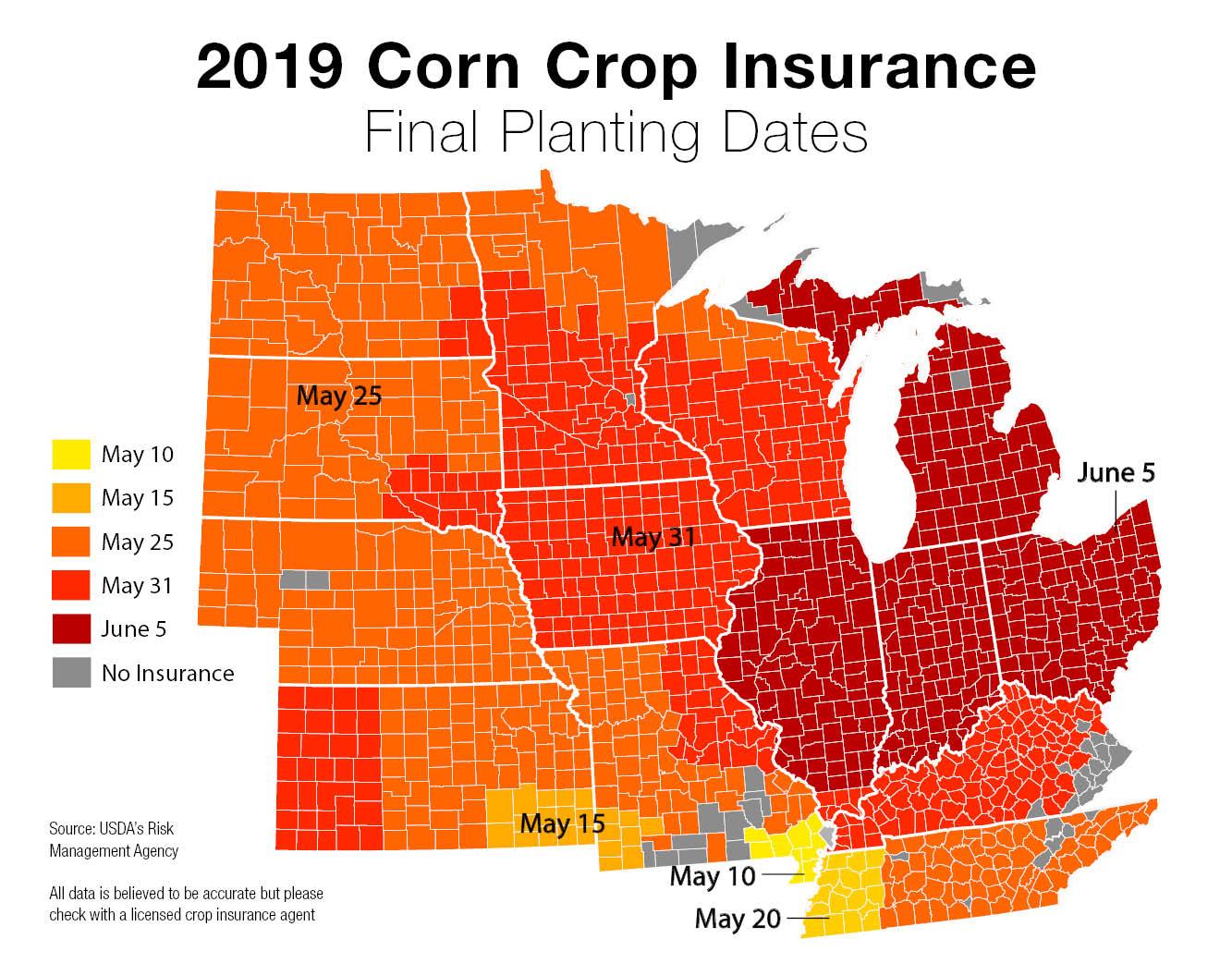 2019 final corn planting dates