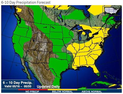 6-10-day precip map