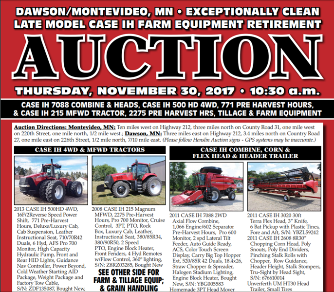 Low Hour 1993 CaseIH 7120 Tractor Coming Up For Sale