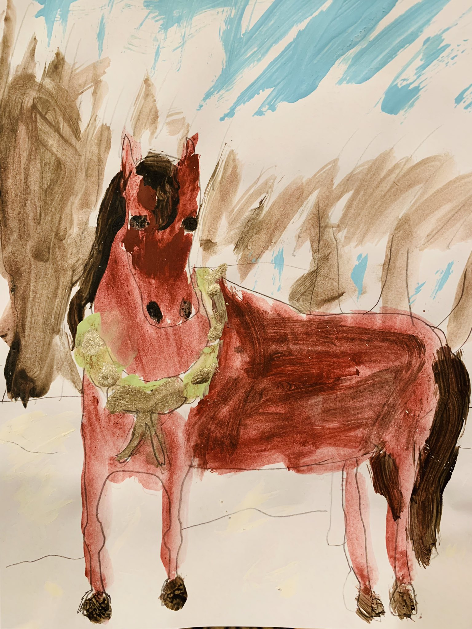 My Daughter's Drawing to Santa
