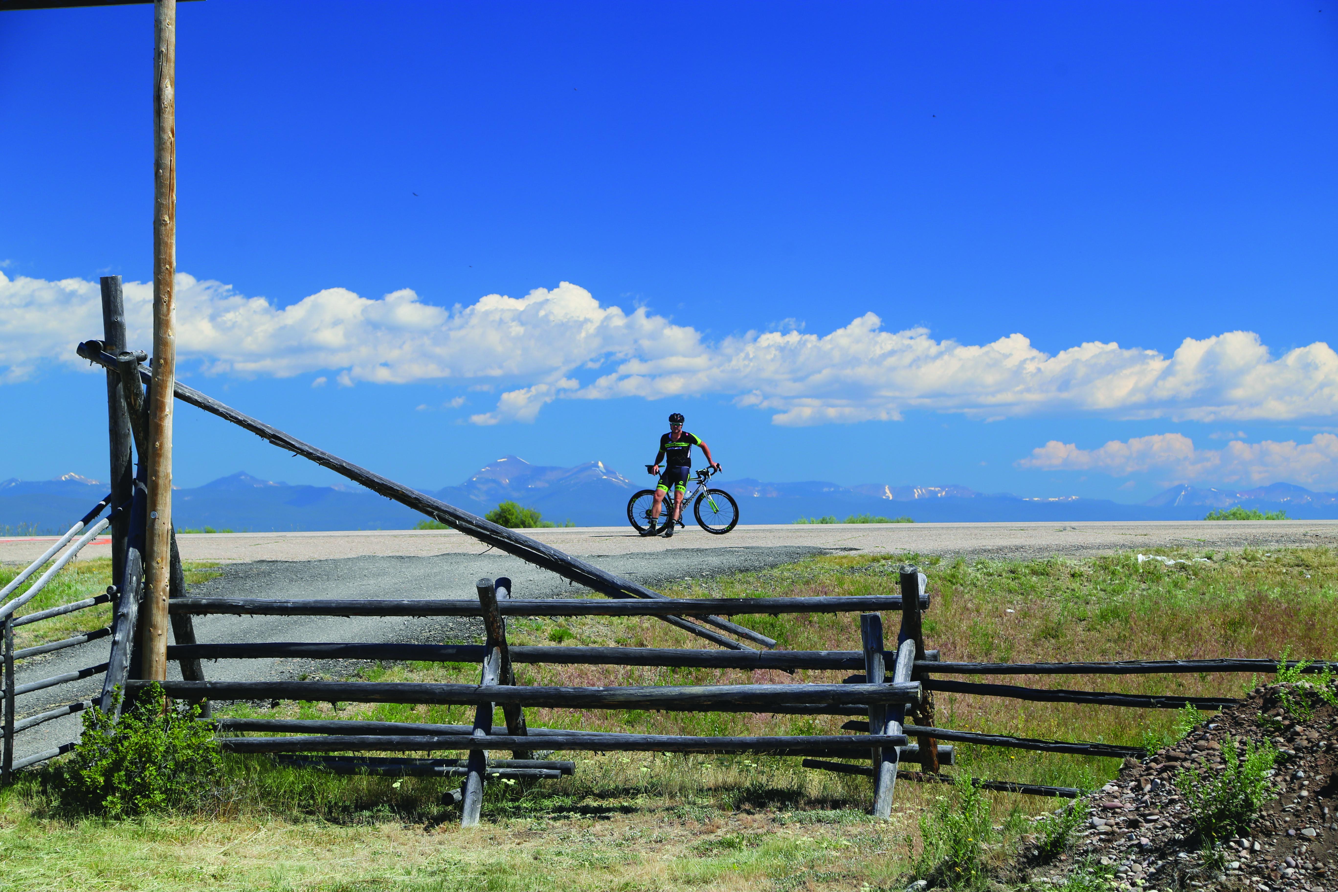 Frank Brummer on bike