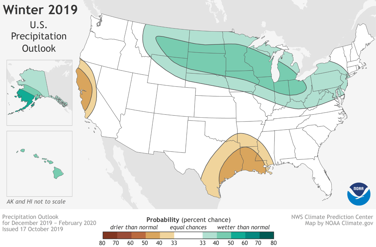 NOAA Precipitation Map