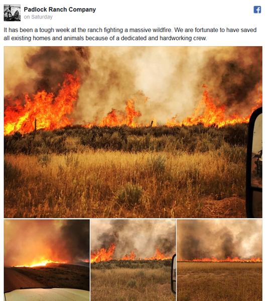 Fire at the Padlock Ranch