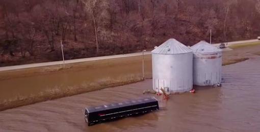 flooded grain bins