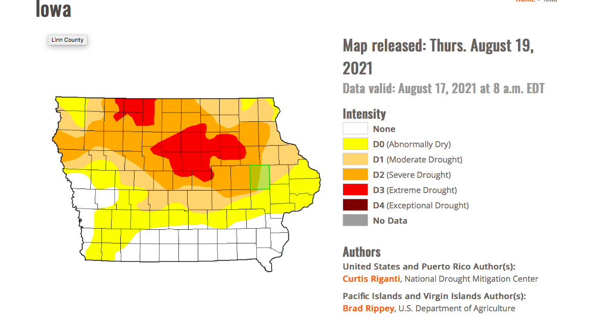 Iowa drought
