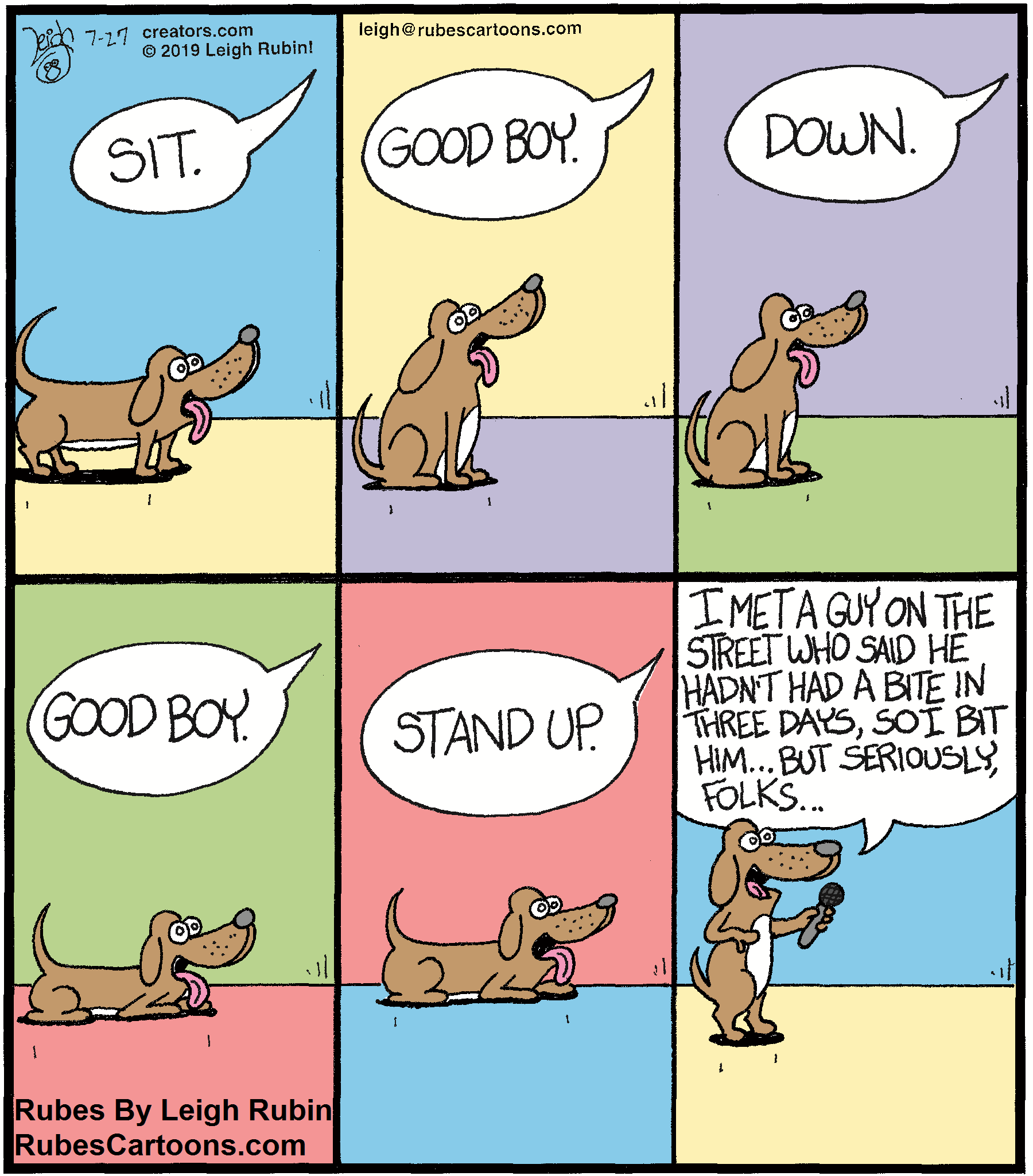 Stand up Comedy Dog