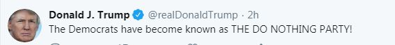 President's Tweet about Democratic Party