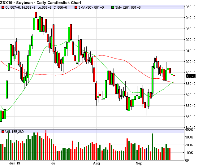 Nov Soybean Daily Chart