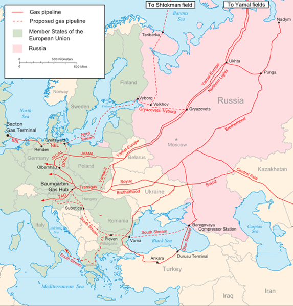 major russian gas pipelines to europe l