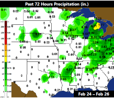 10 Day Weather Map 10 Day Forecast Dry for Central Plains   AgWeb