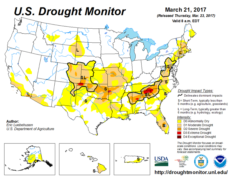 Drought Monitor 3-21-2017