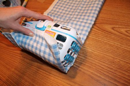 9 Wrapping dishwashing basket