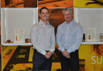 Chris Maisonneuve (left), business development manager at Progressive Systems and Packaging Products, and Mikah Thorne, president of Canadian Corrugated Systems, recently announced a partnership.