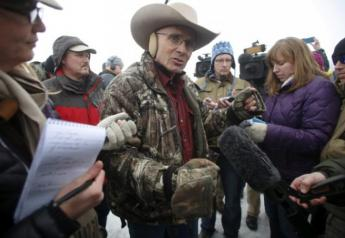Lavoy Finicum talking to reporters.