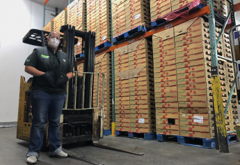 Stefanie Katzman shows her family company's new warehouse at Hunts Point Produce Market.