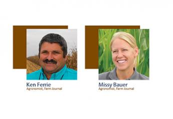 Farm Journal agronomists Ken Ferrie and Missy Bauer.