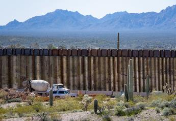 Border Wall construction near Lukeville, Arizona