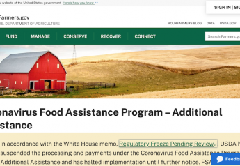 Screen shot of USDA's CFAP webpage.