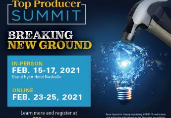 A few spots have opened up for the 2021 Top Producer Summit, which takes place next week in Nashville, Tenn.