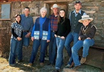 Steven Hammond (second from left) and Dwight Hammond (fourth from left), were pardoned by President Trump last year and their grazing permits restored early this year.