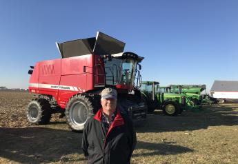 Brian Wrage of Atlanta, Ill., sold his 2018 Massey Ferguson 9545 combine with 644 engine hours that sold for $234,000 during his Dec. 10 online farm retirement auction.