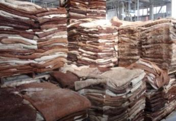 Global demand for cattle hides is declining.