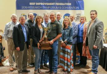 Bruce and Tracey Mershon of Mershon Cattle LLC received the BIF Commercial Producer of the Year Award.