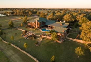 Home at Bradshaw's Oklahoma ranch.