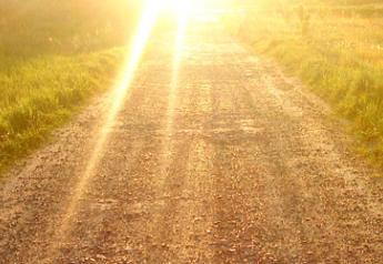 sunset gravel road
