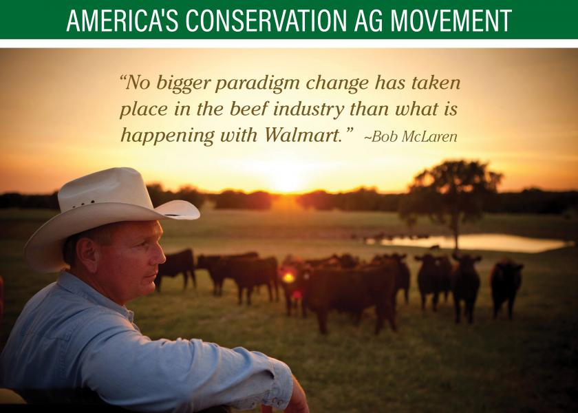 Walmart partners with ranchers in traceability goals.