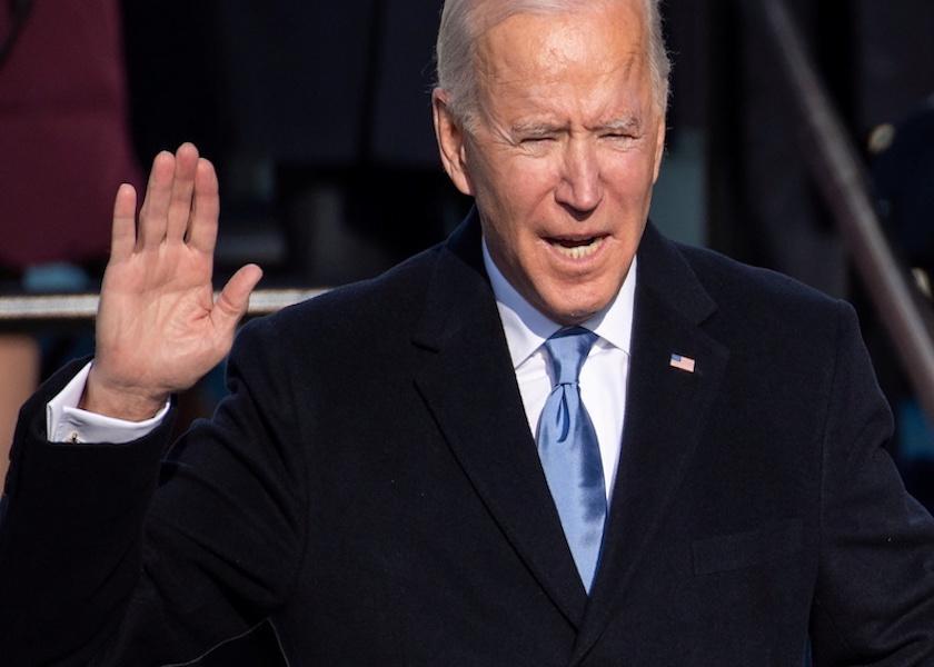 U.S. President-elect Joe Biden is sworn in as the 46th U.S. President, at the U.S. Capitol in Washington, U.S., January 20, 2021.