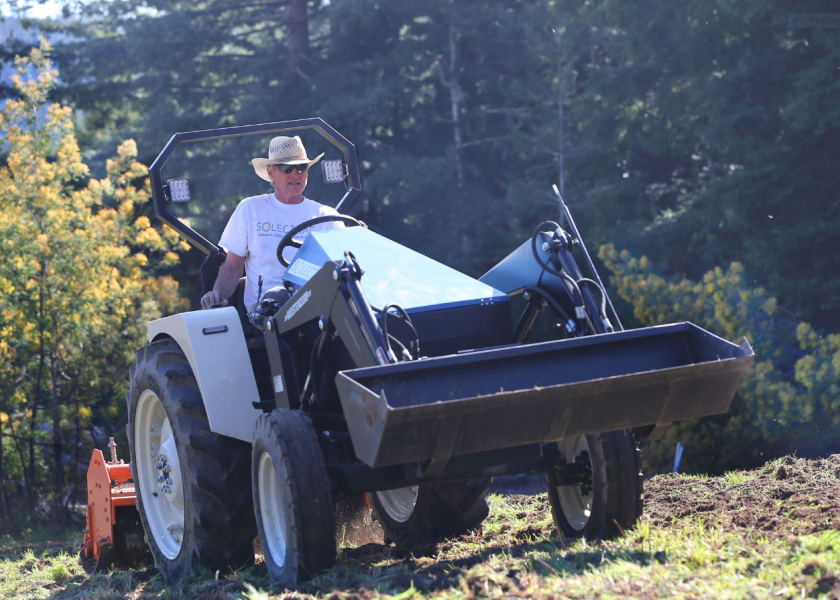 Electric tractors currently available are a fit for small farm operations, vineyards, orchards, equestrian centers and greenhouses.