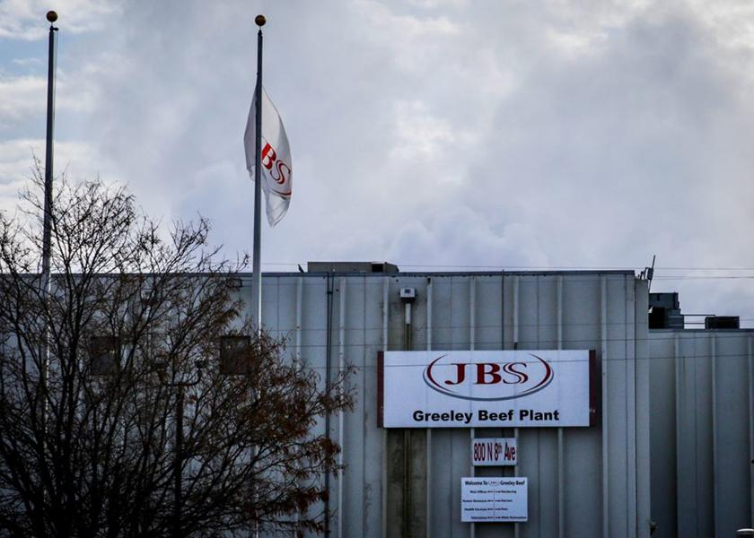 The JBS plant in Greeley, Co.