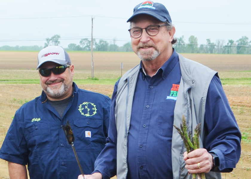Katona Farms co-owner Chip Katona and New Jersey Department of Agriculture Commissioner Douglas Fisher
