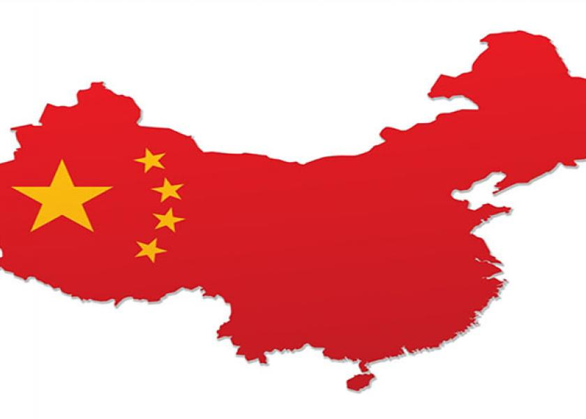 Brazil currently ships about 22% of total exports to China.