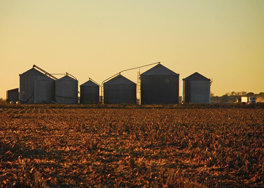 File Photo: Grain bins.