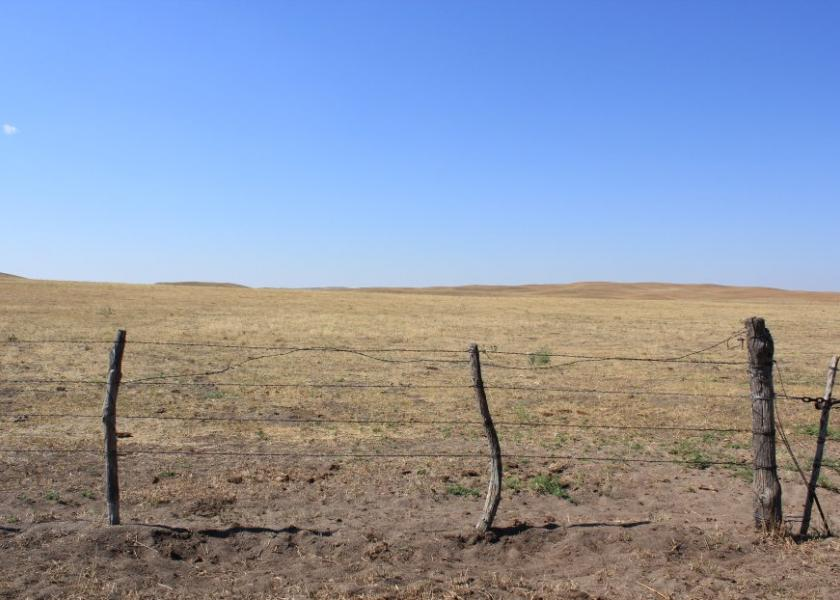 There's little vegetative growth on pastures in the Northern Plains.
